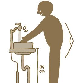 手洗器・洗面ボウルの置き方・カウンターの選び方